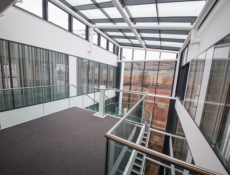 Glazed Partitions in Office Atria