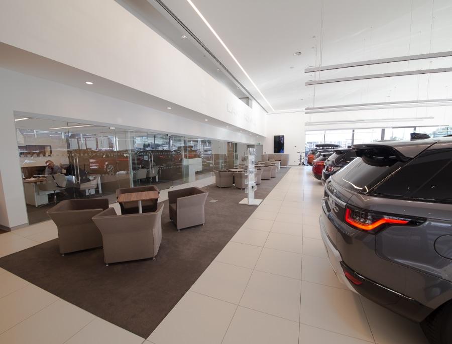 Jaguar Land Rover Showroom Glazing