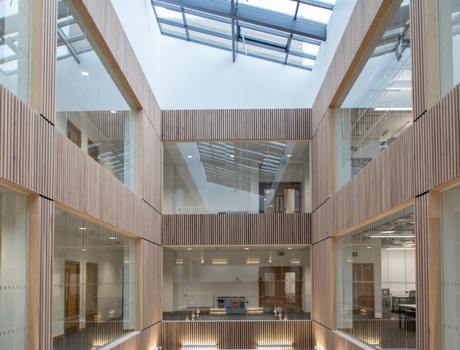 Swansea University Atria Glazing