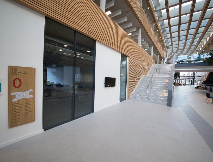 UKHO Headquarters Glazed Atria Partitions