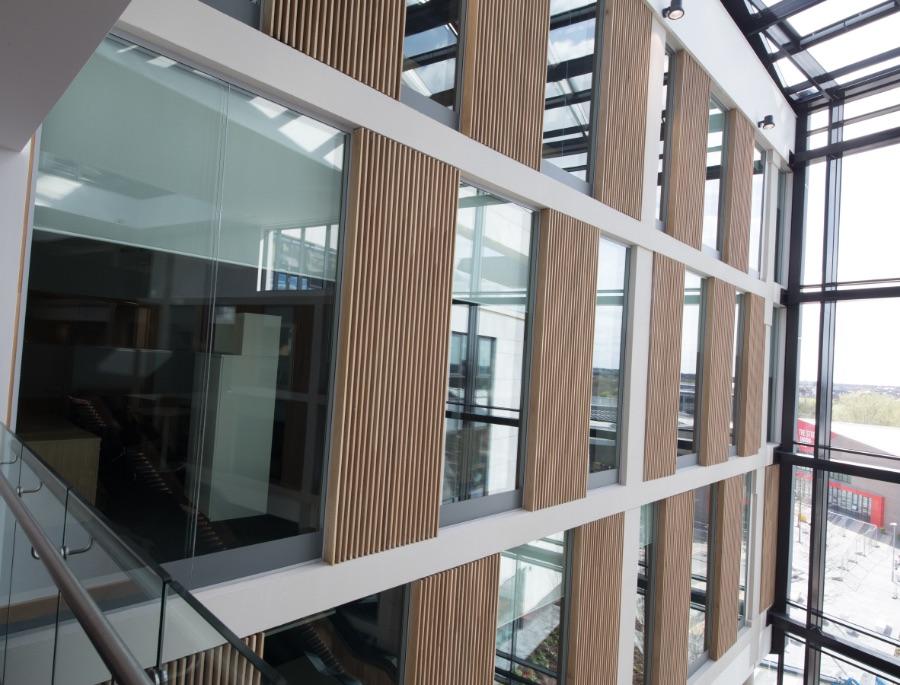 Business School Glazed Partitions Atria